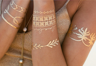 Temporäre Metallic Tattoos
